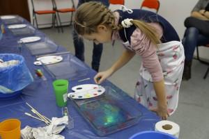 Мастер классы для детей - Рисования красками на воде